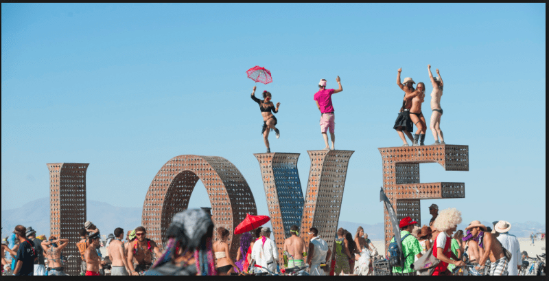Celebrating LOVE at Burning Man