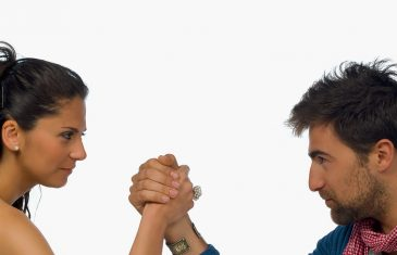 The battle of sexes arm wrestling couple