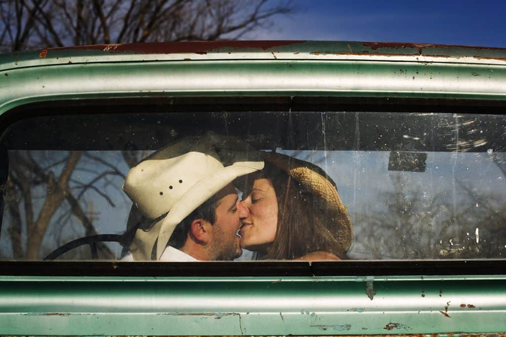 good southern girl makes out with cowboy