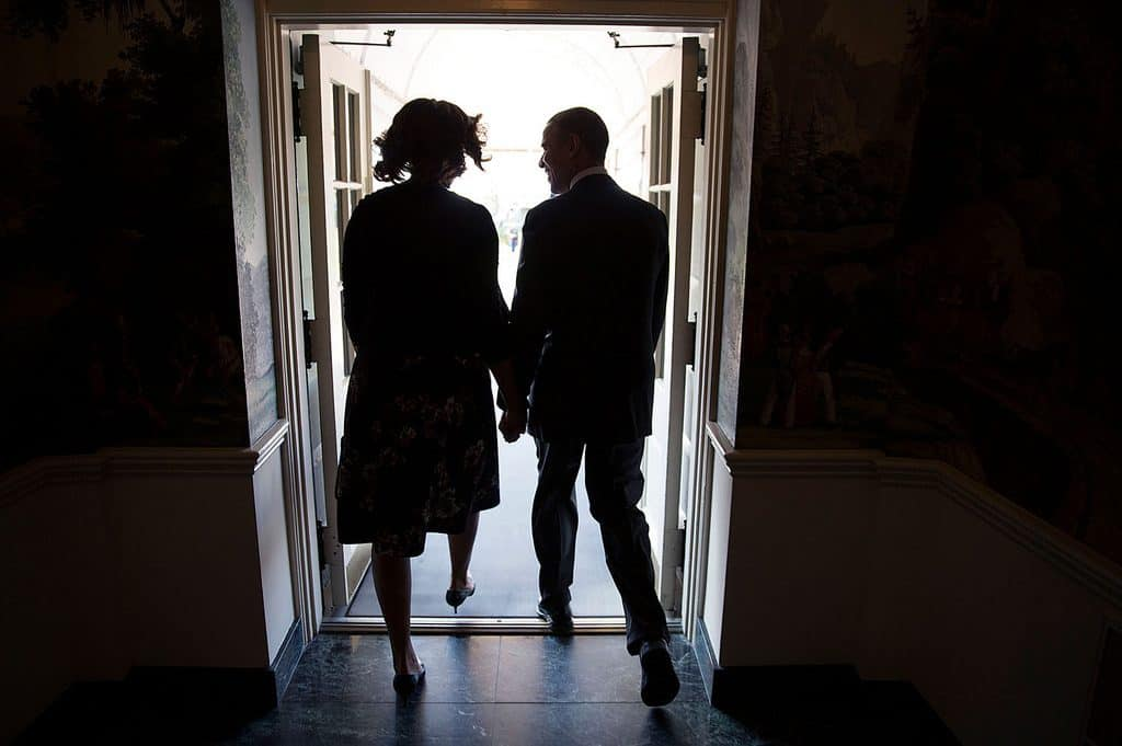 Barack and Michelle Obama by chuck kennedy
