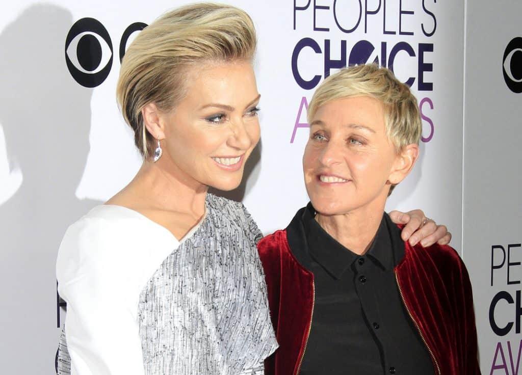 Portia de Rossi, Ellen DeGeneres love
