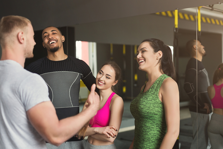 meet people at the gym