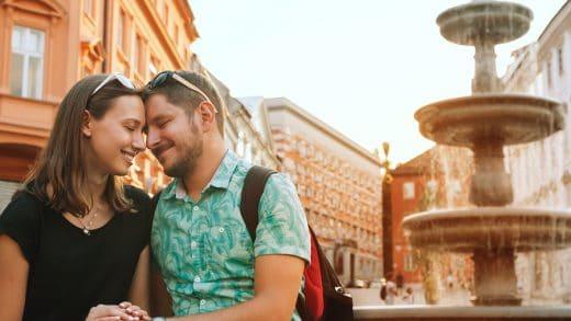 Tourists in Ljubljana, Slovenia