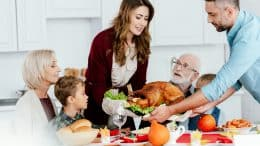 thanksgiving with happy family